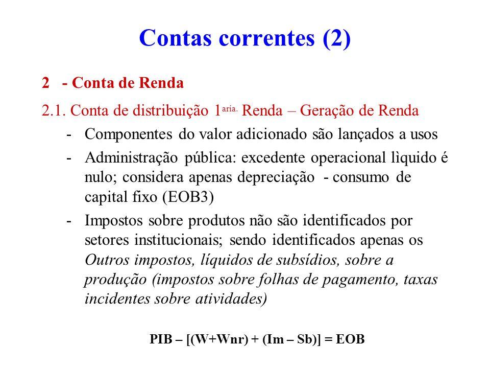 PIB – [(W+Wnr) + (Im – Sb)] = EOB
